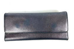 Hobo International Wallet Trifold Metallic Purple Pewter Clutch Organizer $49.95