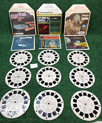 Lot Of 9 Viewmaster View Master Reels Star Trek Omega Glory Man On The Moon