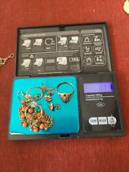 10k 14k Gold Jewelry Lot For Scrap Or Wear 17.3 Grams With Stones Bb1