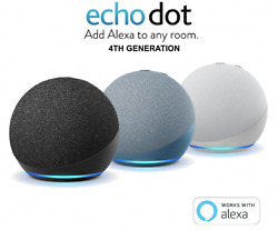 New Echo Dot 4th Generation - Charcoal   White   Blue   Kids Edition