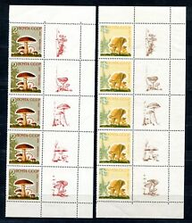 Russia 1964 Zag.3036a - 3040a Complete Set Strips Of 5 With Right Labels - Mnh