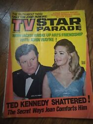 Tv Star Parade Magazine - Feb 1970 - Ted And Joan Kennedy Cover - Beauty Report