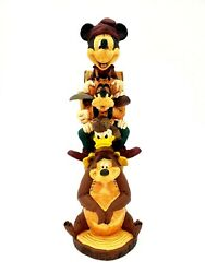 Disney Parks Wilderness Lodge Mickey And Friends Totem Pole Resin Figurine New