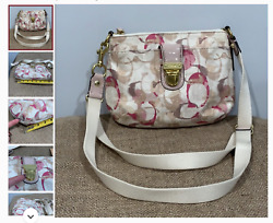 Brand new pink and cream Coach bag with defect MSRP 120$ $48.00