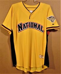 National League 2006 Mlb All-star At Pittsburgh Pirates Gold Jersey