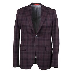 Isaia Napoli Recent Slim-fit 'base Cortina' Soft Flannel Wool Sport Coat 36r