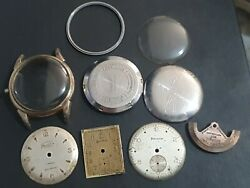 Vintage Helvetia Military Style Watch Job Lot.spares For Vintage Helvitia Watch