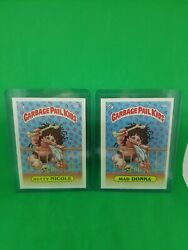 1985 Garbage Pail Kids 2nd Series Mad Donna 50a And Nutty Nicole 50b Gpk 🔥