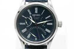Free Shipping Pre-owned Seiko Presage Japan Limited Blue Lacquer Dial Sard013