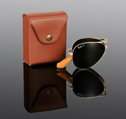 800 Ray-ban 22kt Gold Plated Folding Aviator Sunglasses Rb 3479kq 001/m7 3025