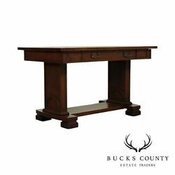 Antique Mission Oak One Drawer Library Table
