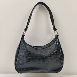 JLO Women#x27;s Black PVC Purse Hobo Small Bag $15.00
