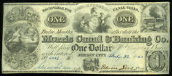 1 Morris Canal And Banking Co Jersey City Nj 1841 Nice Condition Look