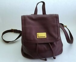 MARC BY MARC JACOBS #x27;Take Your Marc#x27; Leather Backpack Burgundy Wine $85.00