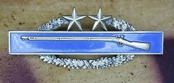Authentic Vietnam War Us Army Combat Infantry Badge Cib 3rd Award Simco Sterling
