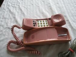 Vintage Bell South Wall Or Desk Phone Push Button Pink