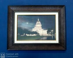 Framed Texas Capitol By Rod Chase Lone Star State Patriotic 23x18