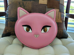 Kate Spade New York Meow Cat Crossbody Bag Clutch Evening Bag Leather Pink $145.00