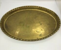 Vtg Hollywood Regency Coffee Table Cocktail Tray Handmade Sweden Patina 14