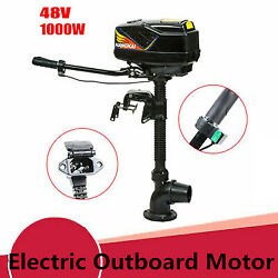 48v 1000w Outboard Motor Electric Brushless Fishing Boat Engine 4.0 Jet Pump Usa