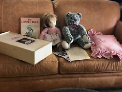 Rothschild 21 Edith The Lonely Doll In Box W Mr. Bear Pillow 1957 Signed Book