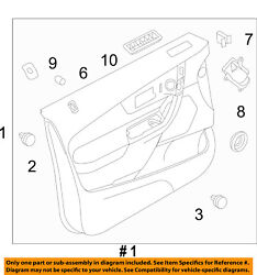 Ford Oem 11-12 Edge Front Door-interior Trim Panel Right Ct4z7823942cd