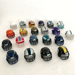 Lot Of 21 Nfl Mighty Helmet Racers Mini Football Helmets Only Party Cake Toppers