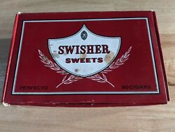 Vintage Swisher Sweets Red Empty Cigar Box Box Holds 50 Cigars Tobacciana