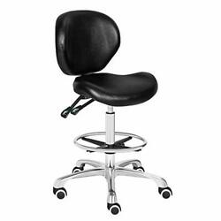 Adjustable Stools Drafting Chair Backrest Foot Rest Swivel Seat Rolling Wheels