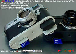Luigiand039s M-mate3fast Sd Card And Battery Change Baseplate Leica M9-m8free Strap