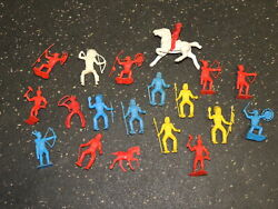 Lot Of Vintage Plastic Cowboys And Indians Toys By Modern Plastics Mpc