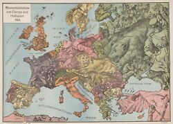 9500.decoration Poster.room Wall Art.home Decor.map Of 1914 Europe.military
