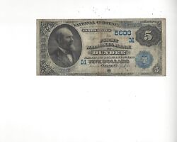 1882 5 Date-back First National Bank Of Dundee, Illinois Ch 5638