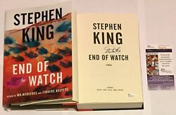 Stephen King Signed Newest Horror Author End Of Watch Hard Cover Book 2016 +jsa