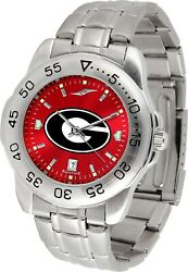Officially Licensed Men's Georgia Bulldogs Sport Watch Pick Your Style