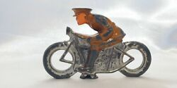 Vintage Barclay Manoil Motorcycle Toy Military Rider Indian Harley Hd