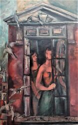 Frederic Taubes At The Window Oil On Canvas 1952