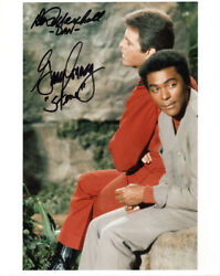 Don Marshall Gary Conway Dual Signed 8x10 Photo Land Of The Giants Beckett Bas