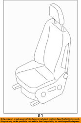 Dodge Chrysler Oem 07-09 Sprinter 3500 Front-seat Assembly Right 1hg631e7aa