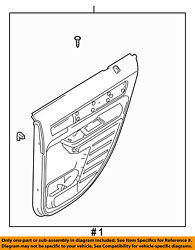 Lincoln Ford Oem 2007 Mkx-door Interior Trim Panel Right 7a1z7827406ba