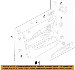 Lincoln Ford Oem 11-15 Mkx Front Door-interior Trim Panel Left Ca1z7823943eb
