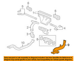 Gm Oem Dash A/c Ac Heater-air Vent Rear Duct Right 22699860