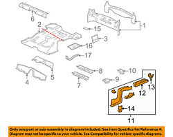 Cadillac Gm Oem 04-09 Srx Floor-rear Body-rail Assembly Right 88957626