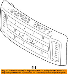 Ford Oem 08-10 F-250 Super Duty-grille Grill 7c3z8200cd