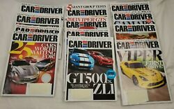 Car And Driver Magazine 2012 Complete Set Of 12. January-december