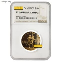 Us Mint Gold 10 Commemorative Coins Ngc/pcgs Ms/pf 69 Random Year