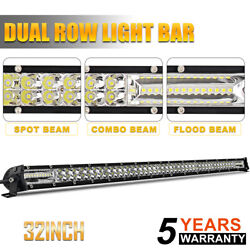 32inch Led Light Bar Spot Flood Combo Fits Ford Offroad Truck Suv Atv Ute 30in