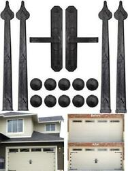 Magnetic Decorative Garage Door Hardware 6 Pieces Carriage Accents Faux 1 1 Hand