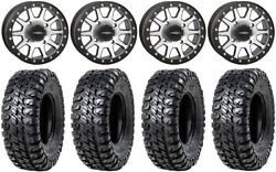System 3 Sb-3 Machined 14 Wheels 30 Chicane Rx Tires Yamaha Grizzly Rhino