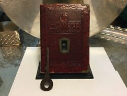 Antique Zell Cale Meter Coin Bank And Key-works H.r Lindenberger Camp Hill Penn
